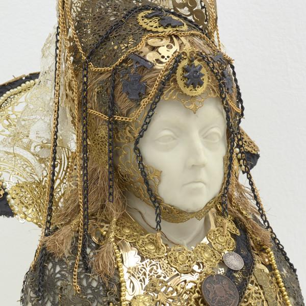 Detail of Hew Locke, Souvenir 9 (Queen Victoria), 2019