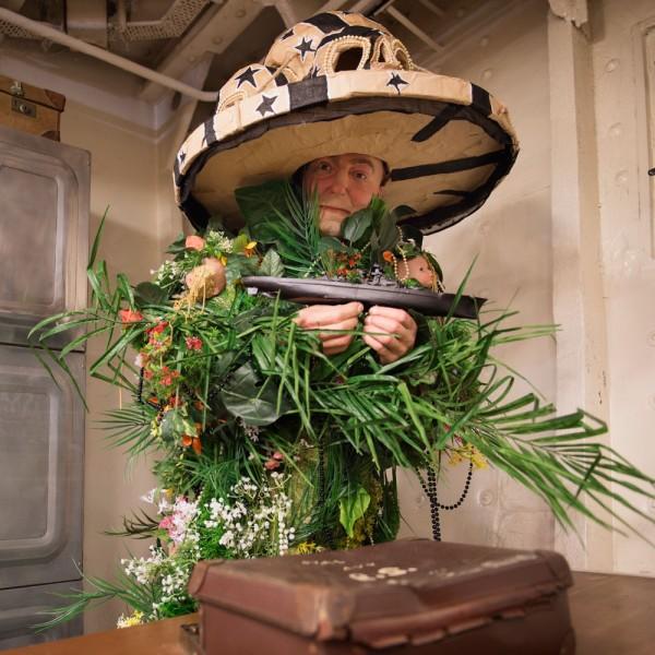 Hew Locke's The Tourists at HMS Belfast