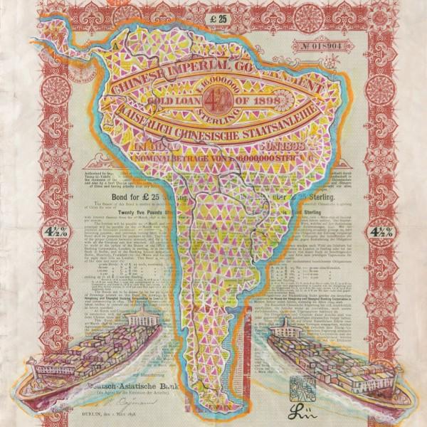 Hew Locke, Chinese Imperial Gold Loan 3, 2013, (detail)