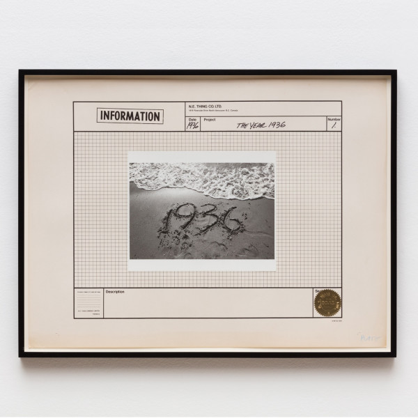IAIN BAXTER& / N.E.Thing Co., The Year 1936, 1970