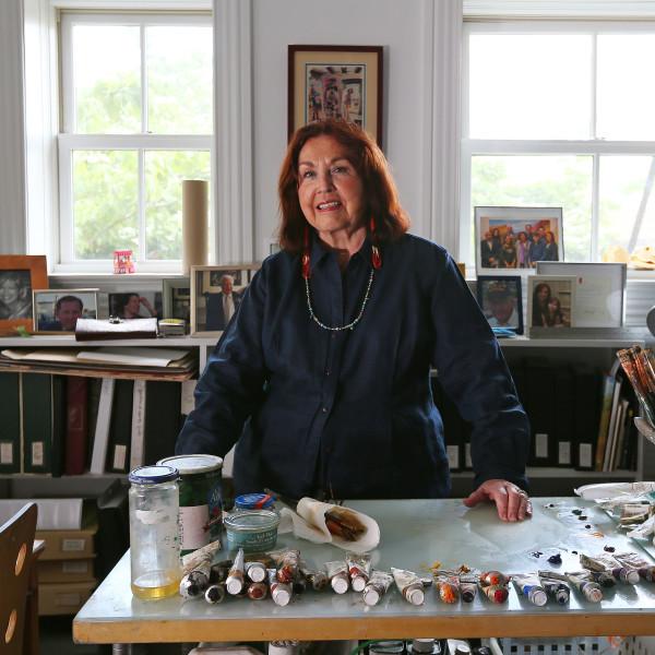 Portrait of Kay WalkingStick. Photo by Rich Schultz