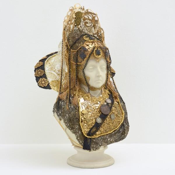 Detail of Hew Locke, Souvenir 9 (Queen Victoria), 2019.