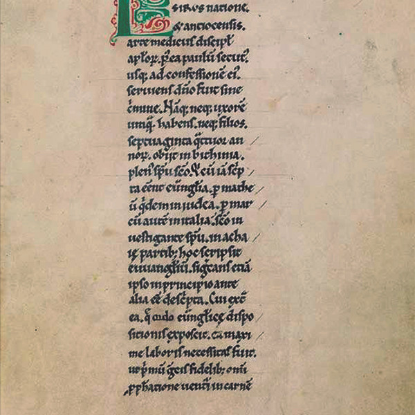and per se and: part XXV - Alexander Gorlizki & 12th C. Manuscript, Gospel of Luke