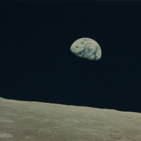 NASA (Crew of Apollo 8 - Bill Anders) 'Earthrise', 24 December 1968 vintage chromogenic print published by NASA 18 x 24 cm (image) 38 x 43.5 cm (framed)
