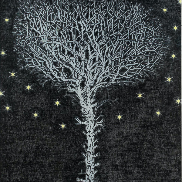 David Austen, 'Tree at Midnight', 2014, oil on flax canvas, 66 × 54