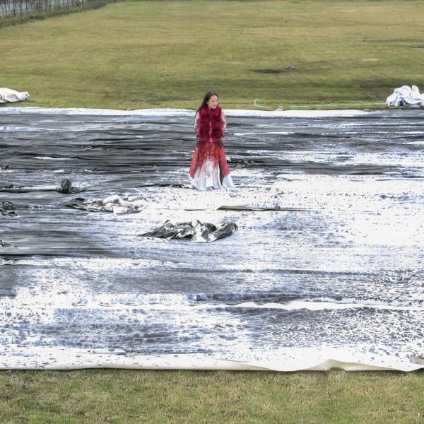 冰逸|悬置(深圳机场项目现场创作图片),2014