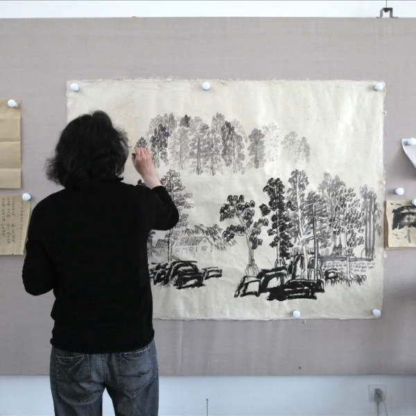 Xu Bing 徐冰 - Background Story: Spring Clouds and Layered Mountains 背后的故事:春云叠嶂图, 2019
