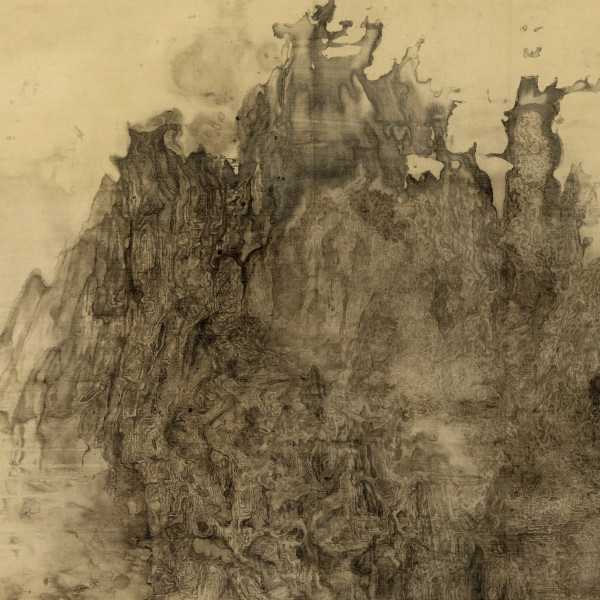 Bingyi, Apocalypse, 2011-2015, ink on silk, 2000 cm x 90 cm, detail. Copyright: the artist.