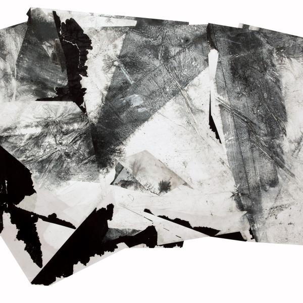 Zheng Chongbin 郑重宾 Liquid Map 流动地块, 2017 Ink and acrylic on xuan paper 墨 丙烯 宣纸 68 1/8 x 100 in 173 x 254 cm