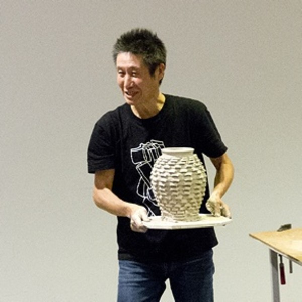 Documentation: Shozo Michikawa. Lecture and ceramic demonstration
