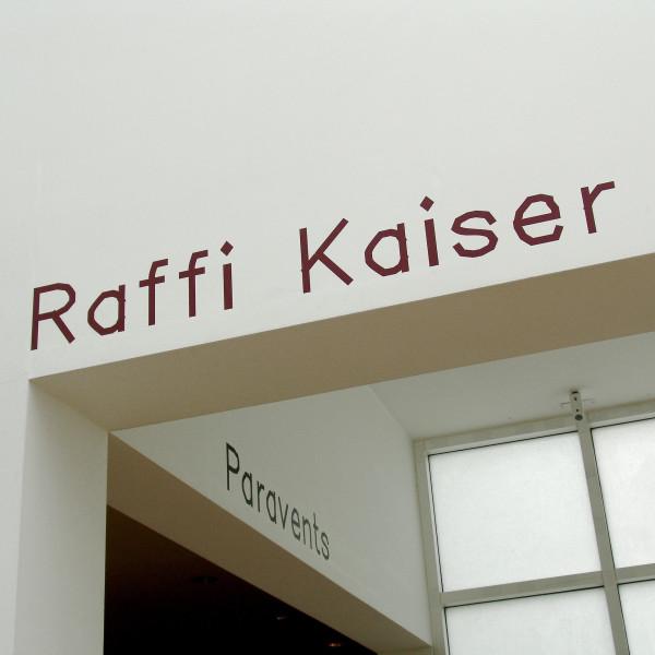 Exhibition views: Raffi Kaiser. Paravents