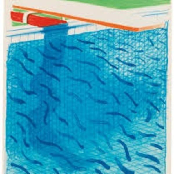David Hockney - Untitled, for Joel Sachs , 1993