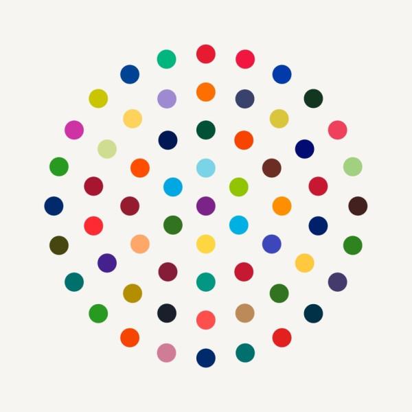 Damien Hirst - Studio Test canvas *SOLD*, ca 2016
