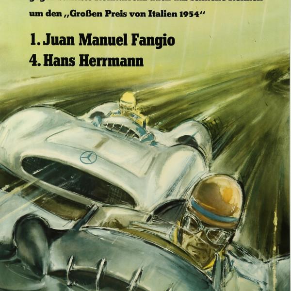 Hans LISKA - MERCEDES BENZ - FANGIO, the poster, c1954