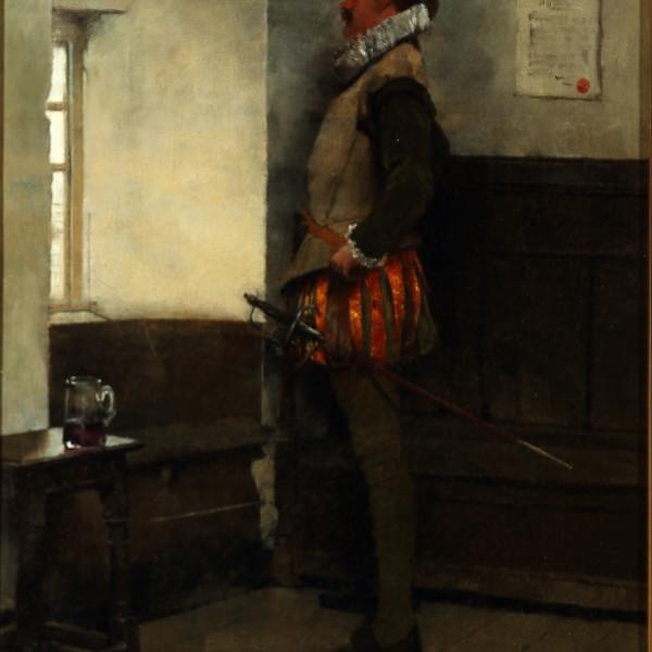 Albert Chevallier Tayler - Swordsman at a Window, 1895