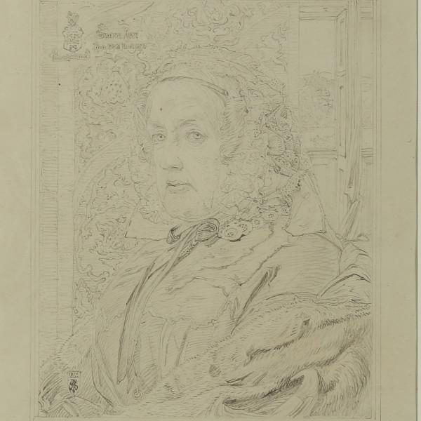 Anthony Frederick Augustus SANDYS - SUSANNA ROSE: pencil study for the oil portrait, 1862