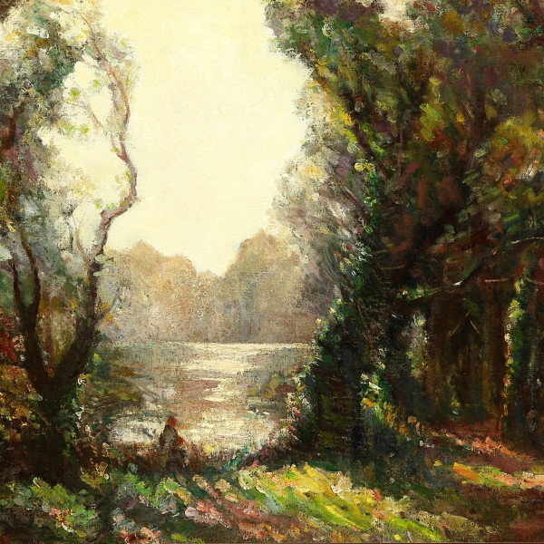 Garstin COX - FIGURE BY A RIVER