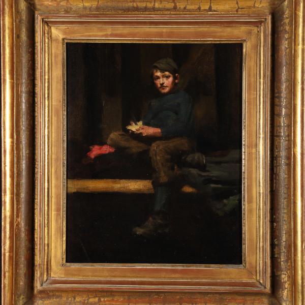 Henry Scott Tuke - AMBROSE ROUFFIGNAC -DINNER TIME, 1883