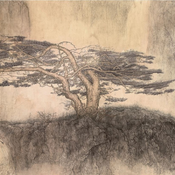 Solitary Pine and Flowing Water, 1996