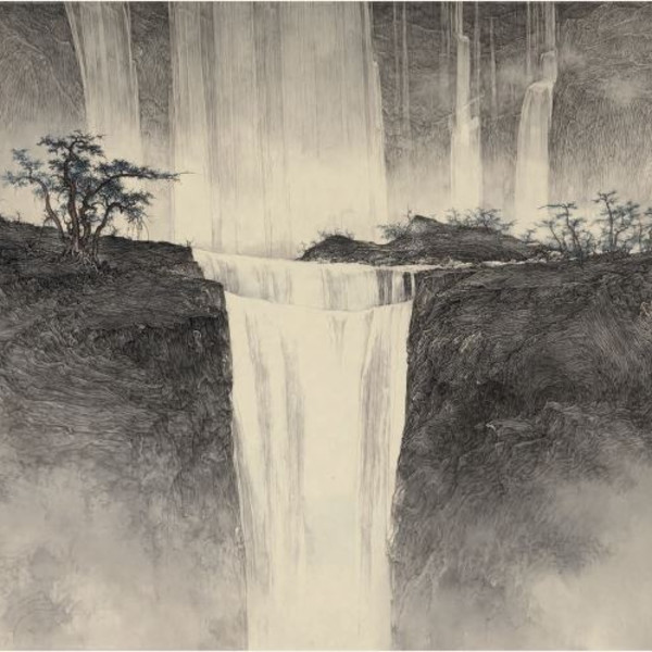 Waterfall amid Clouds, 2013