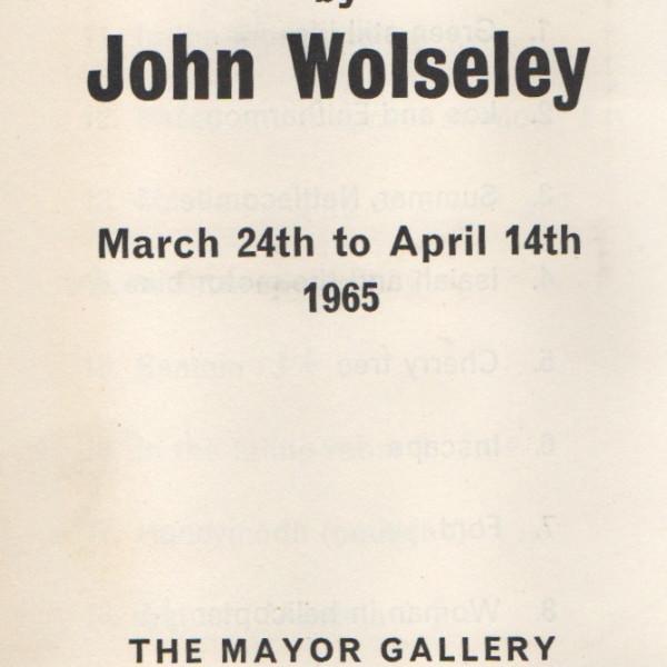 JOHN WOLSELEY