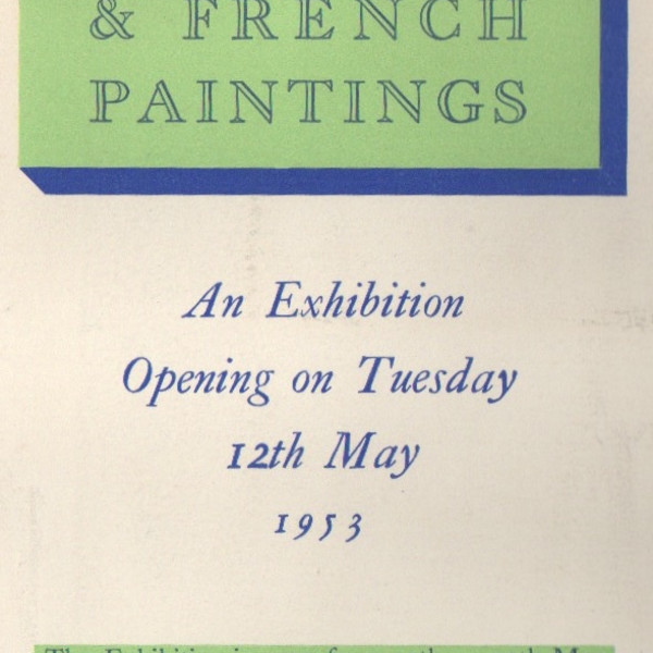 ENGLISH & FRENCH PAINTINGS
