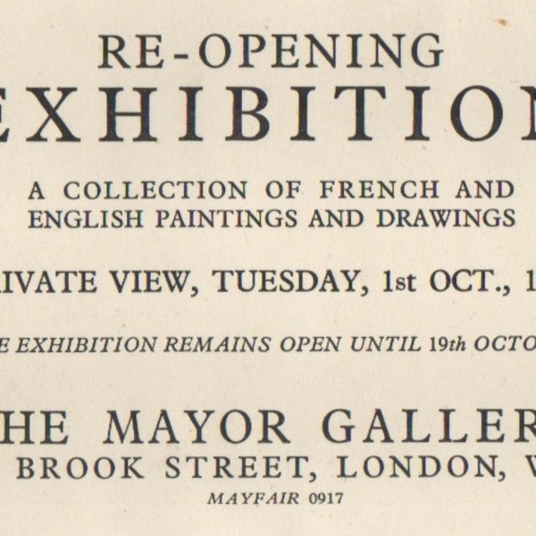 RE-OPENING EXHIBITION