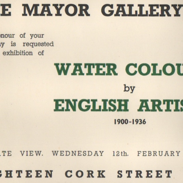 WATERCOLOURS BY ENGLISH ARTISTS