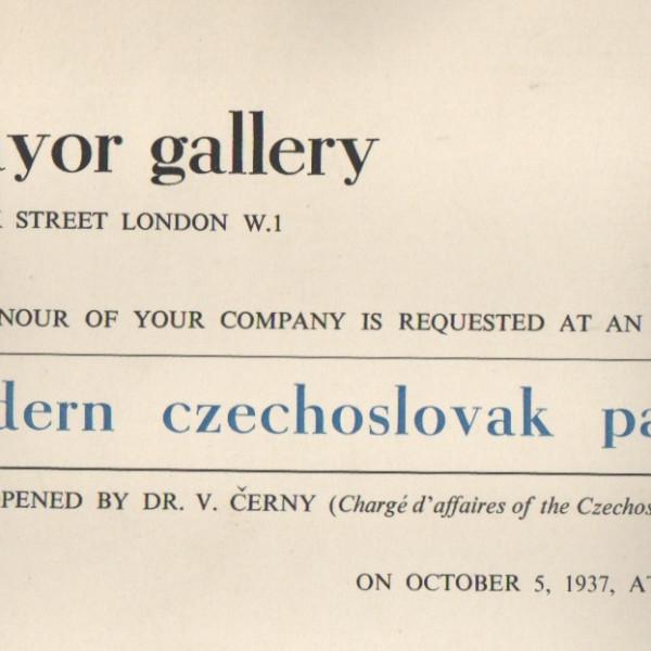MODERN CZECHOSLOVAK PAINTINGS