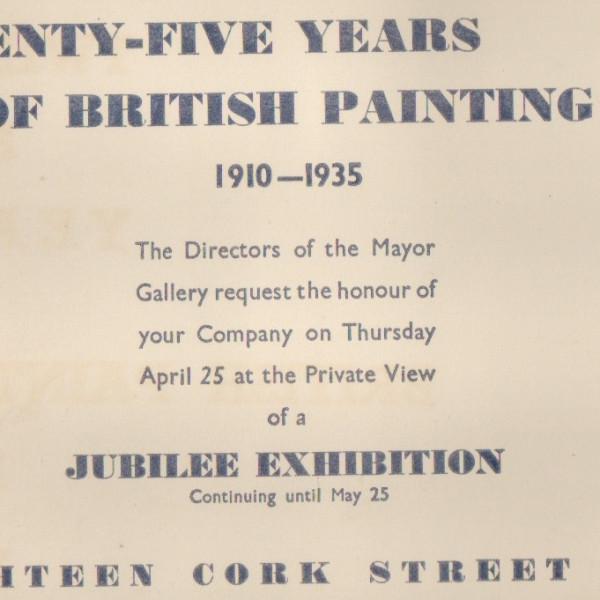 TWENTY-FIVE YEARS OF BRITISH PAINTINGS