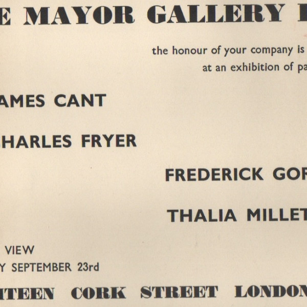 JAMES CANT, CHARLES FRYER, FREDERICK GORE, THALIA MILLET