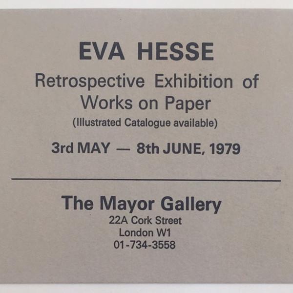 EVA HESSE A Retrospective of Works on Paper 1936-1970