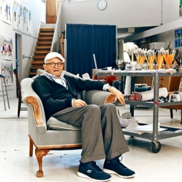 Hockney at Home in the Studio
