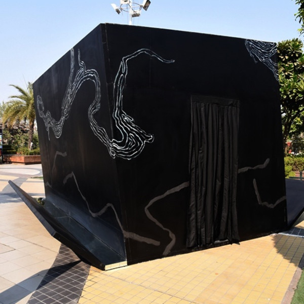 Owais Husain brings street art to New Delhi's busiest mall