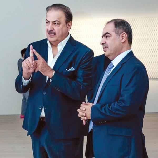 Rashid Khalifa and Shaikh Fawaz bin Mohammed Al Khalifa