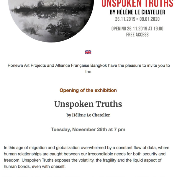 The Alliance Francaise Bangkok and Ronewa Art Projects Present, - Exhibition -
