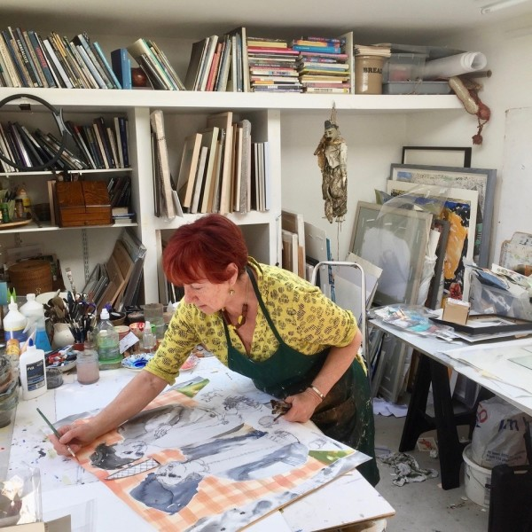 Anne Lynch in her studio in South London
