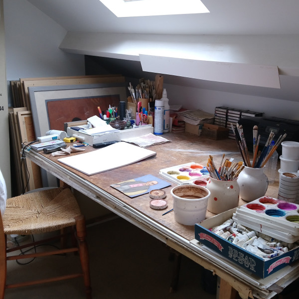 Shanti Panchal's studio in North West London