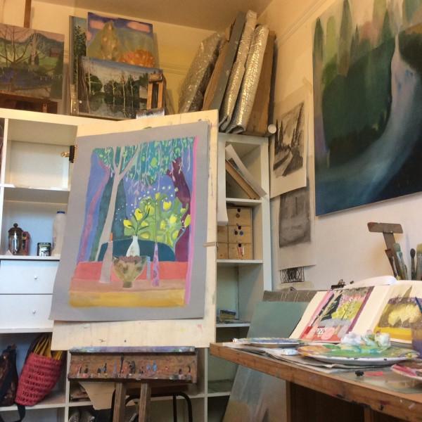 Suzy Fasht's studio