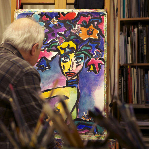 Gerry Baptist in his studio