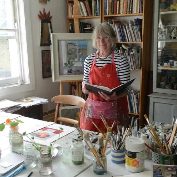 Jill Leman pictured in her studio in Islington