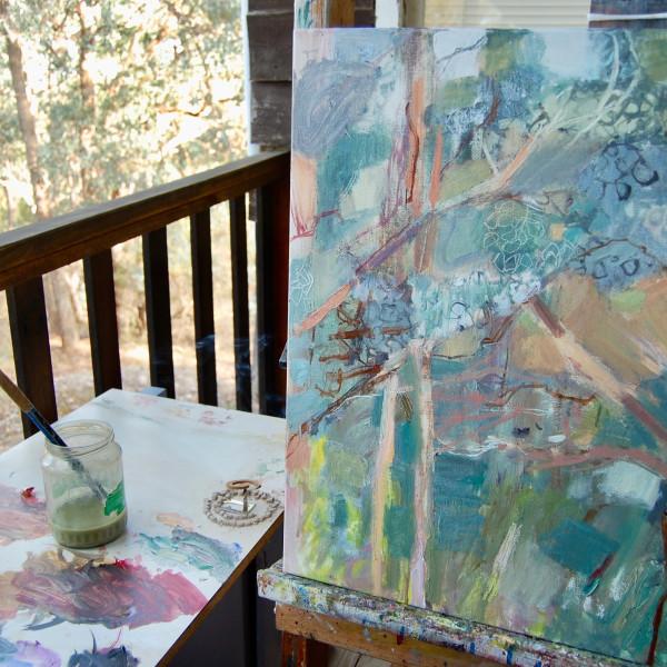 Simon Pierse's outdoor studio