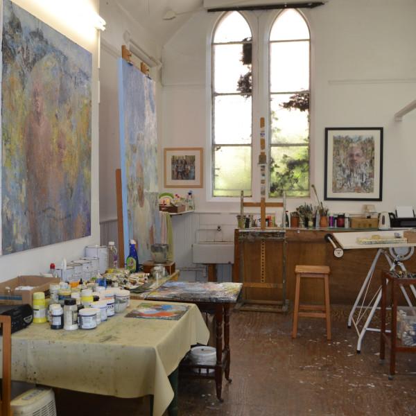 Colin Merrin's studio