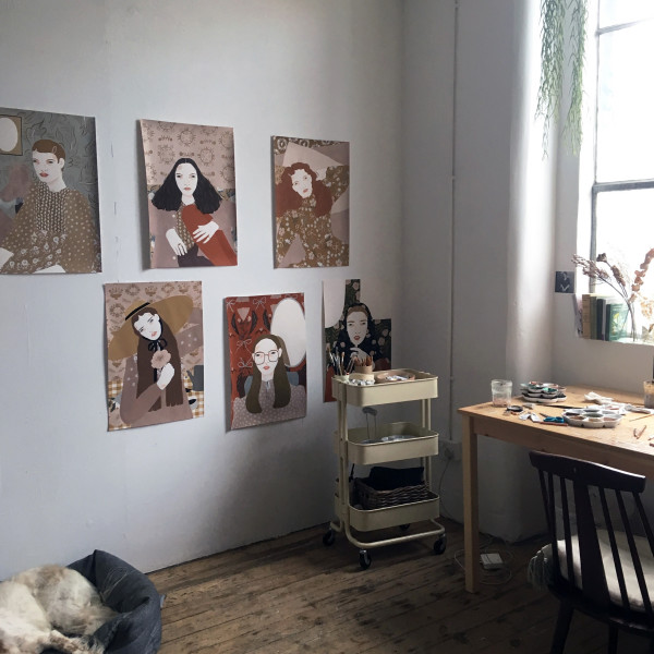 Alessandra Genualdo's studio in Hackney