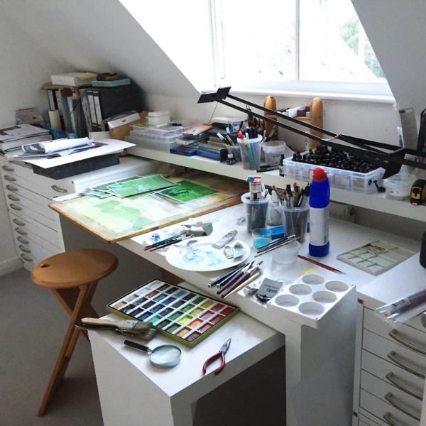 David Hamilton's studio in Chichester