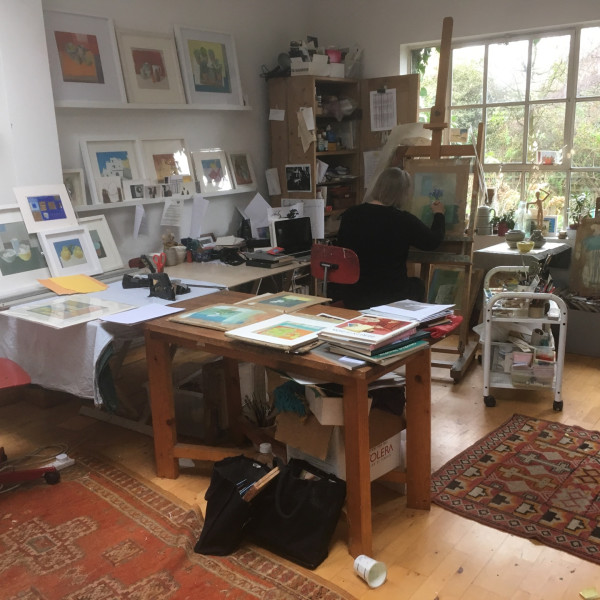 Wendy Jacob's studio in Islington