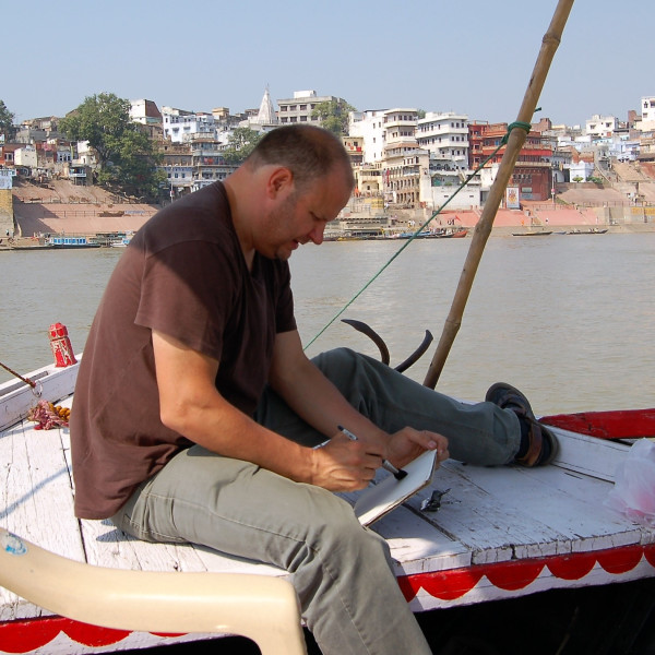 Stuart Robertson working on location in India