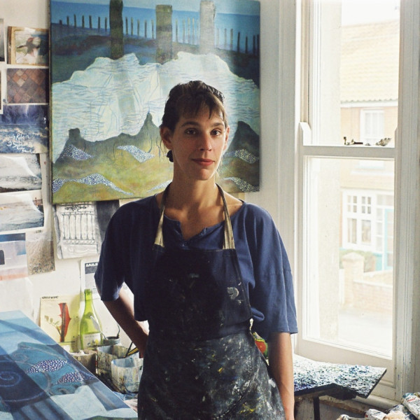 Sula Rubens in her studio