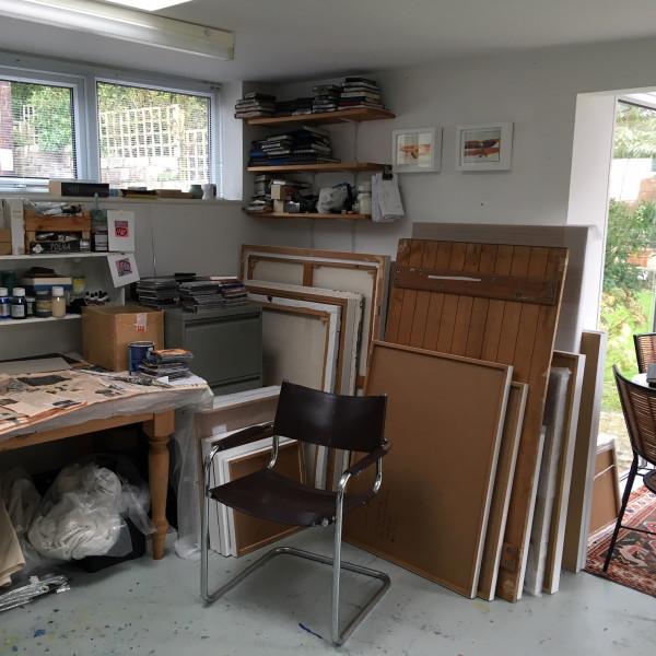 Jim Hunter's studio in Dorset