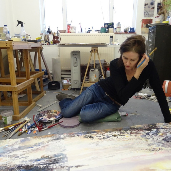 Sophie Knight in her studio in New Cross